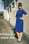 Blue wiggle dress