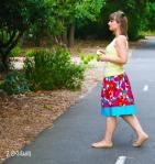 Flower power skirt