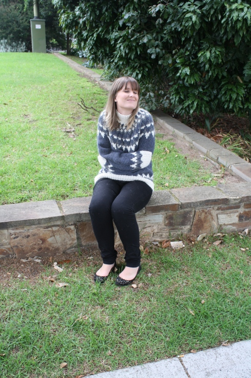 Fair isle alpaca knitted jumper