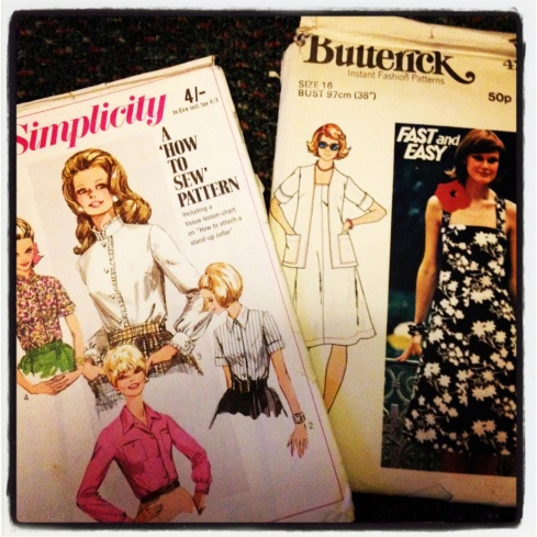 Lucky dip patterns - kestrel finds and makes - simplicity 7780 butterick 4225