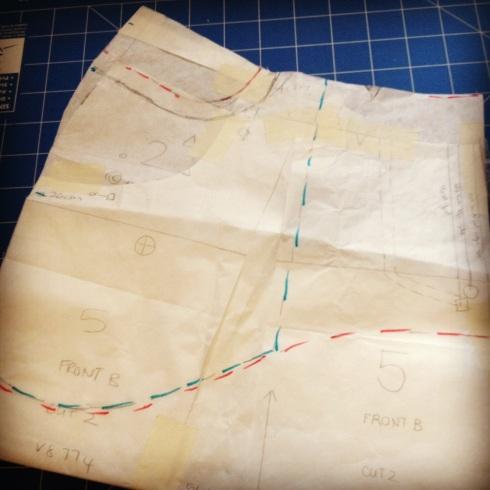 v8774 pattern redrafting